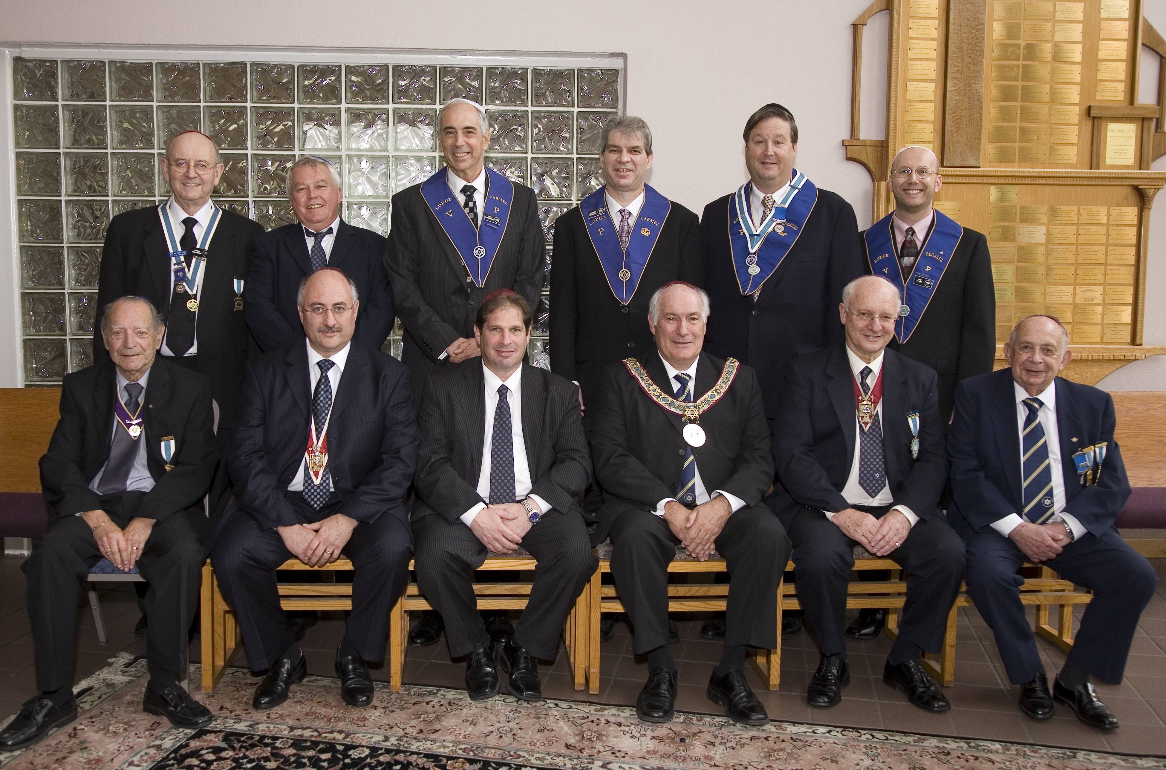 Grand Lodge with new Grand President and Deputy President