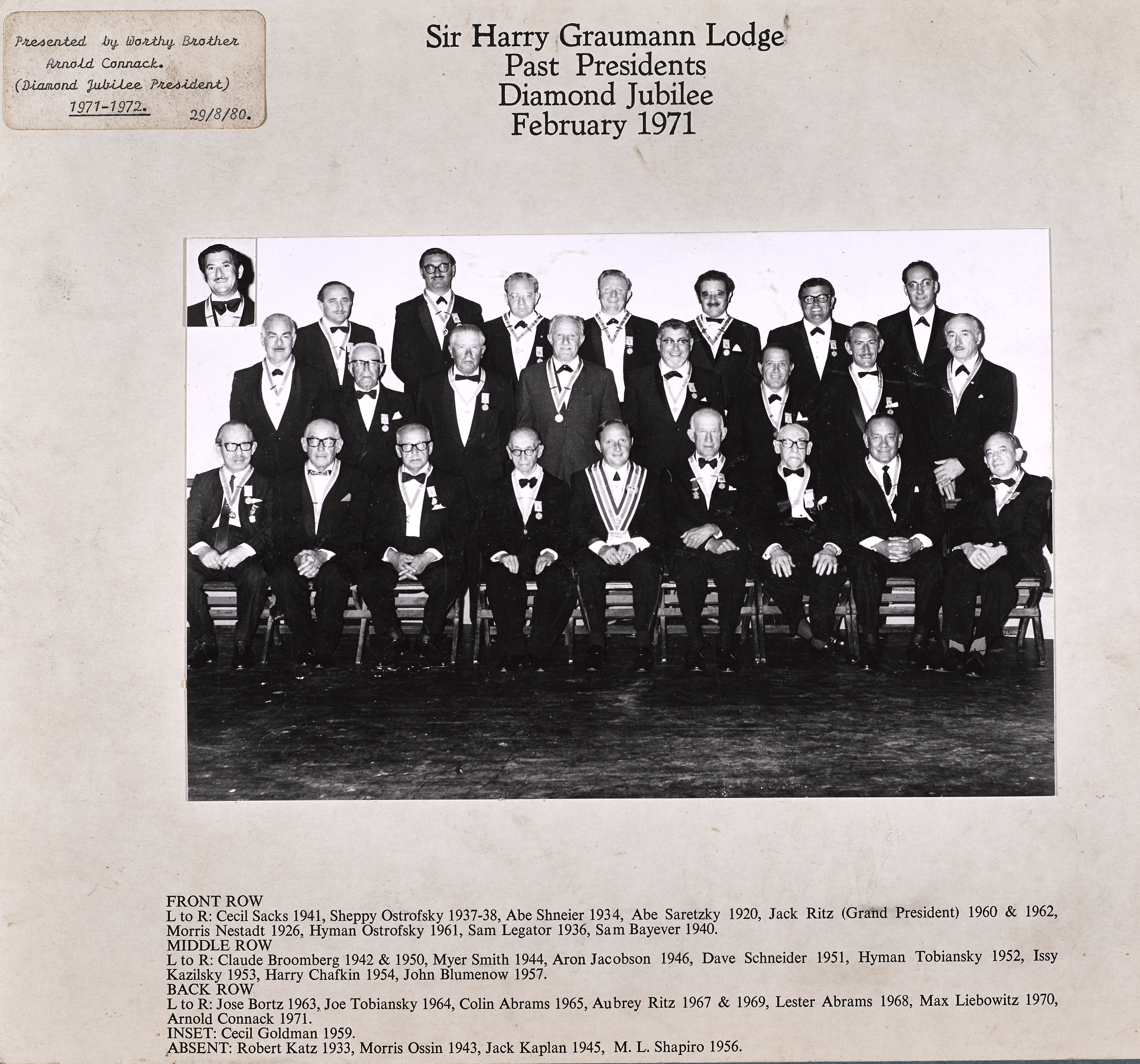 Sir Harry Graumann Lodge 1971