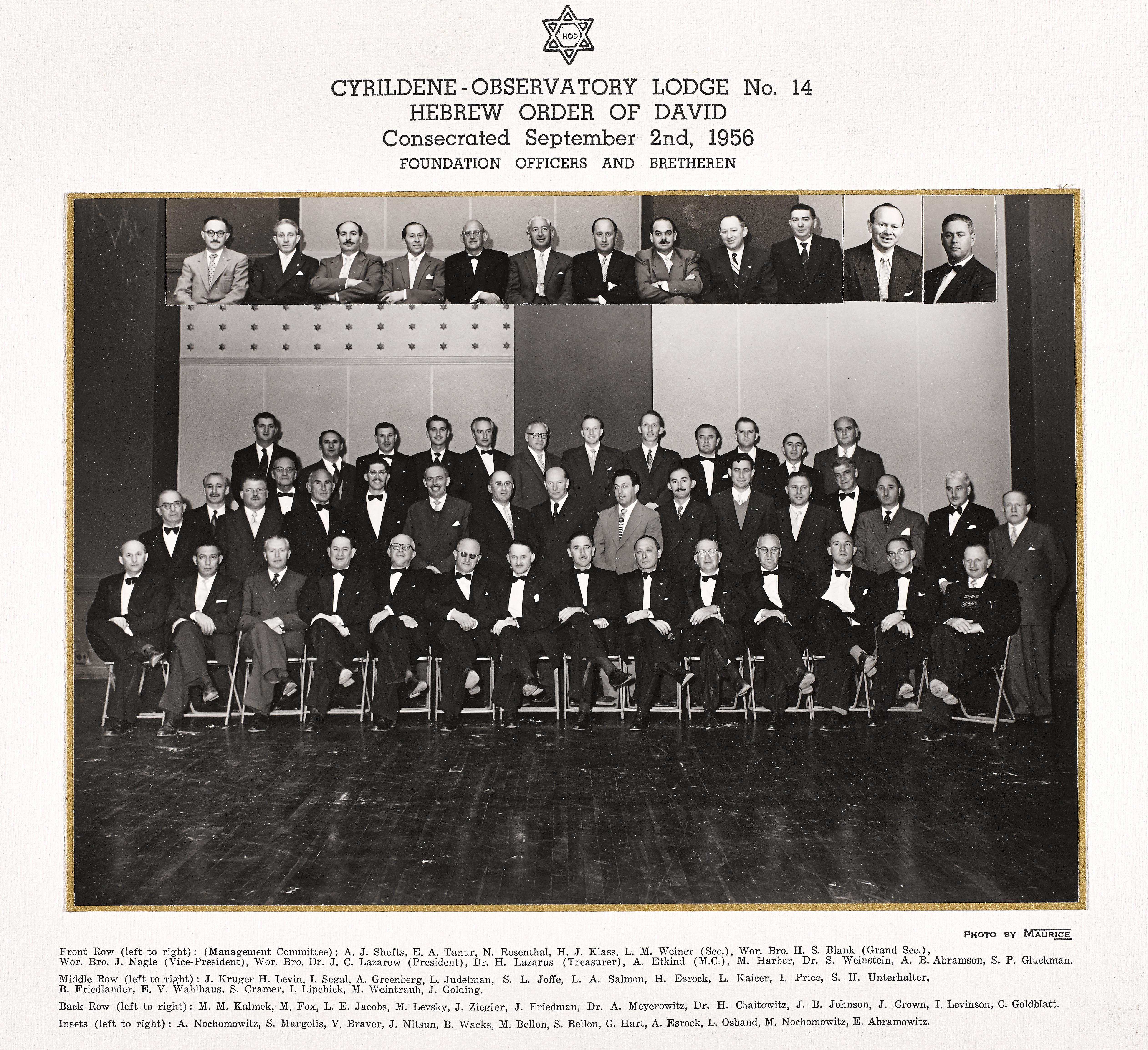 Cyrildene Lodge 1956 Consecration