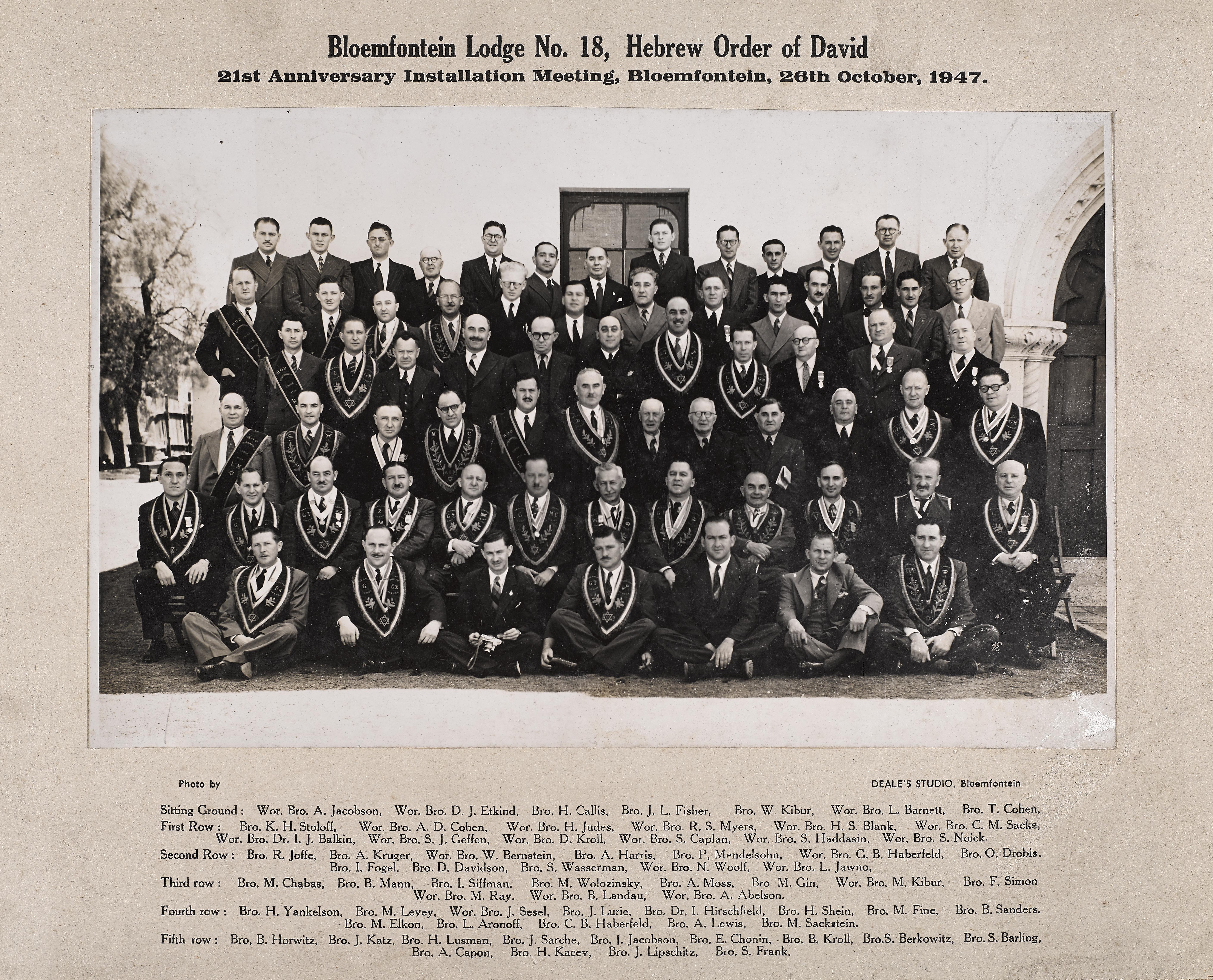 Bloemfontein Lodge 1947